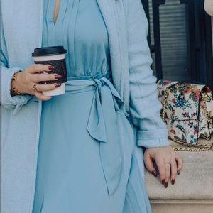 Silk, Powder Blue Gal Meets Glam Dress